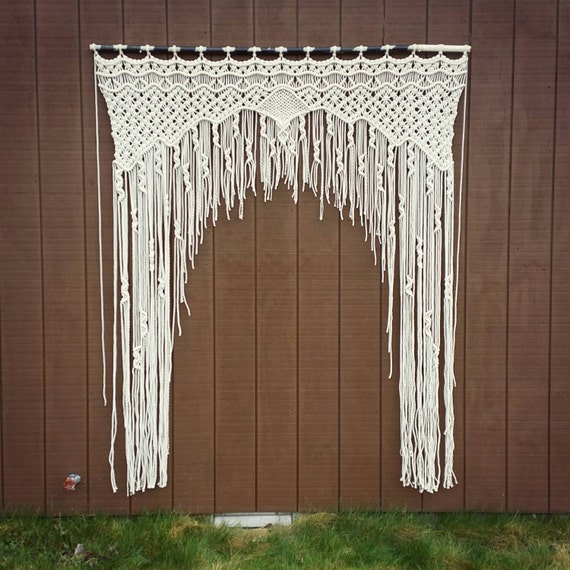 Large Macrame Wedding Arch Bohemian Decor By Wallhuggerhandmade