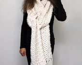 """CROCHET PATTERN Super Scarf / Oversized Chunky Scarf / Made in Canada / PDF Pattern / """"Frostbite Super Scarf"""""""