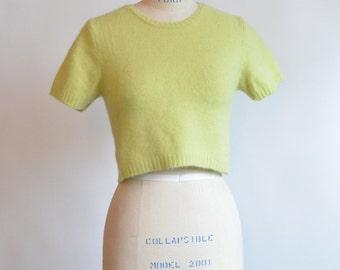 Vintage 1990s angora wool crop top