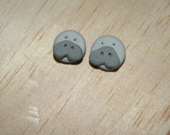 Snooty the Manatee Face Stud Earrings