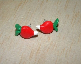 Luna Lovegood Clay Radish Stud Earrings