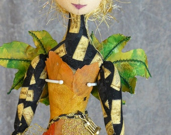 "Chenin -  18"" White Wine Fairy Doll"