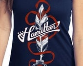 Alexander Hamilton Tank Top // Hamilton Musical Quill // Hand Screen Printed Shirts for musical theater fans // Available in Plus Size