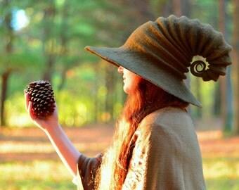Brown  Witch Hat. Wizard Hat. Fantasy Hat. Cosplay Hat. LARP.