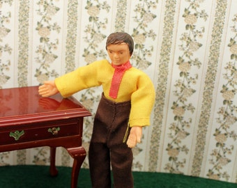 Miniature Doll Dollhouse People Man Father Wire Poseable 1970s