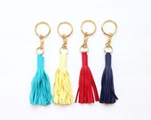 Leather Tassel keychain / Leather Charm