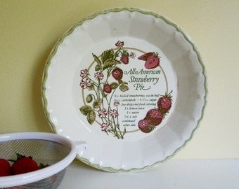 Vintage Pie Dish, Strawberry Pie Recipe, Royal China, All American