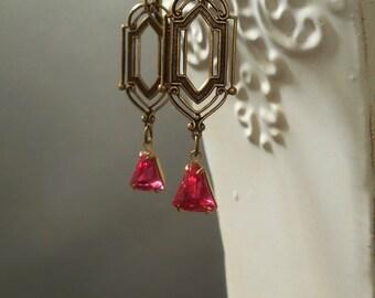 Daisy Buchanan - Great Gatsby Earrings - 1920s Jewelry - Flapper Earrings - Wedding Jewelry - Downton Abbey - Art Deco Earrings