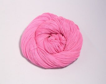 Sale - hand dyed merino crazy 8 sport weight yarn Cherry pink