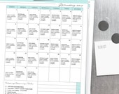 2017 CLEANING CALENDAR - Clean Mama's Calendar- Jan-Dec 2017 - standard and half size - Instant Download