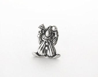 Funny Clown Sterling Silver Tac