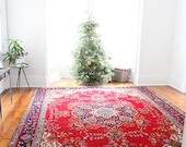 12' x 9' Antique Heriz Rug - Antique Azerbaijan Rug - Persian Rug - Wool - Gorgeous Colors