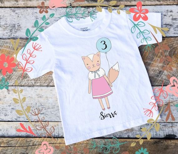 Personalized Birthday Shirt Onesies® For Girls, Baby Girl Woodland Squirrel Onesie, Birthday Girl Woodland Shirt, Woodland Girl Onesie, Bday