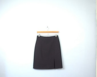 Vintage 90's black skirt, black pencil skirt, 90s skirt, size 7 / 6
