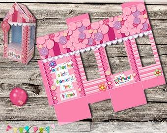 Lalaloopsy Style Cake Pop Box - Small Gift Box - Wedding Favour Box - Display Box - Printable - Digital File - INSTANT DOWNLOAD