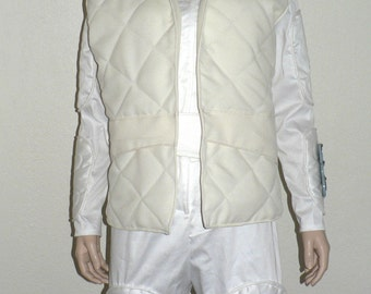 Princess Leia's Hoth Costume, Star Wars - White Jumpsuit With Vest - Leia Episode V, The Empire Strikes Back, Cosplay