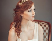 Gold leaf headband - Greek goddess headband - Grecian tiara - Wedding headband - Bohemian head piece