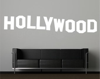 HOLLYWOOD SIGN wall decals - Interior decor - home & office surface graphics  (28x140)