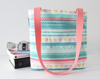 striped color crush hearts bible bag