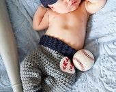 CROCHET PATTERN- Baby Baseball Cap Pants - Crochet Pattern 0 to 12 months