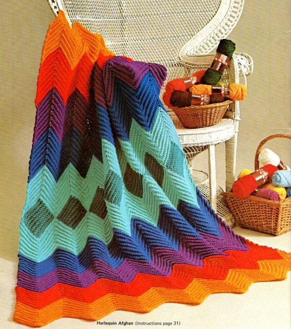 Vistoso Patrón De Ondulación Solo Crochet Molde - Ideas de Patrones ...