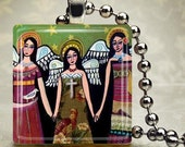 Guardian Angels Necklace Mexican Folk Art Jewelry - Pendant Glass Gift Art Heather Galler Gift Vegan Gifts