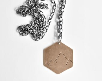 HEX Mountain Range Pendant- We are made to conquer mountains