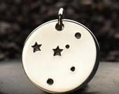 Cancer Zodiac Constellation Charm - Zodiac Charm - Sterling Silver Cancer Zodiac Charm