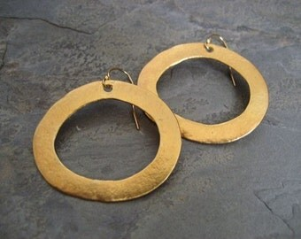 Oval hoop earrings, whimsical hoops, gold hoops, circle earrings, oval dangle, bold hoops, gold dangle, hoop e