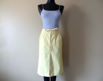 Yellow Canvas Wrap Skirt size Small or Medium