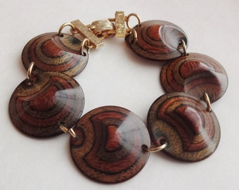 Layered Wood Hippy Bracelet