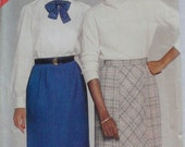 Butterick 5272 - Straight Skirt With Optional Bias Front Panel - See And Sew Sewing Pattern - Sizes 12-14-16, Waist 26 1/2 - 30