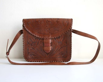 Tooled Satchel Bag