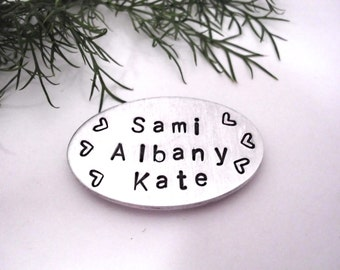 Grandma Gift - Personalized Magnet - Refrigerator Magnet - Personalized Pocket Token - Dad Pocket Token - Name Magnet - Mother's Day Magnet