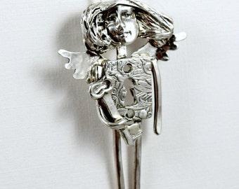 Sterling Angel escutcheon Pendant Jewelry - Angel Adalyn Holds The Key - Sterling Empowerment Jewelry - Key Angel Jewelry Pendant - 2021