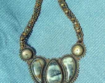 A Picasso Jasper collar necklace