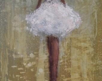 Ballerina Painting Figurative painting woman painting Angel woman Stardust  Swalla Studio