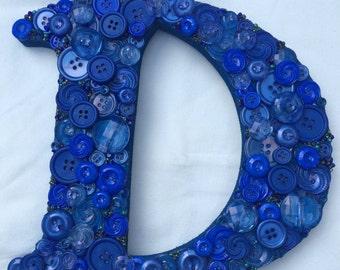 Beautiful Button Letter / Button Monogram letter / Button Wall Art / Nursery Decor / Teacher Gift / House Warming Gift