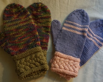Cable Cuff Mittens