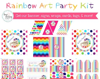 Painting Birthday Party, Painting Birthday Decorations, Painting Party Decorations, Art Party, Art Birthday, Art Birthday party decorations