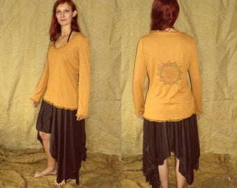 UpcYclED Flower of life lace top L