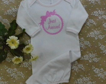 Baby gown,   baby,   gown,  newborn sleeper,   Coming home outfit, Just Arrived