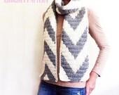 Crochet Scarf Pattern, Cool Weather Chevron Scarf, Crochet Pattern, Crochet Loop Scarf Pattern, Crochet Infinity Scarf Pattern, Fringe Scarf