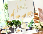 Safari Baby Shower - Matching Name Sign - Print Yourself