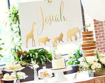Safari Baby Shower - Matching Name Sign