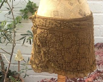 Crochet Lace Wrap Psy Pixie Skirt, Olive Green, Pixie Skirt