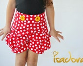 Minnie Mouse inspired shorts in red and  white polkadot