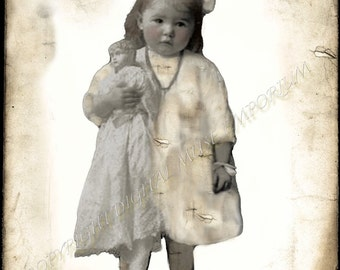 Instant Download Vintage Photograph - Her Rough Day