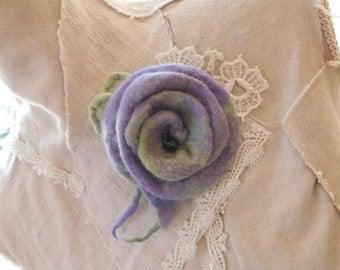 Felted Flower Felt Brooch