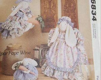 Vintage Craft Pattern - Kitchen Bunnies - McCalls #6834 - Witch bunny